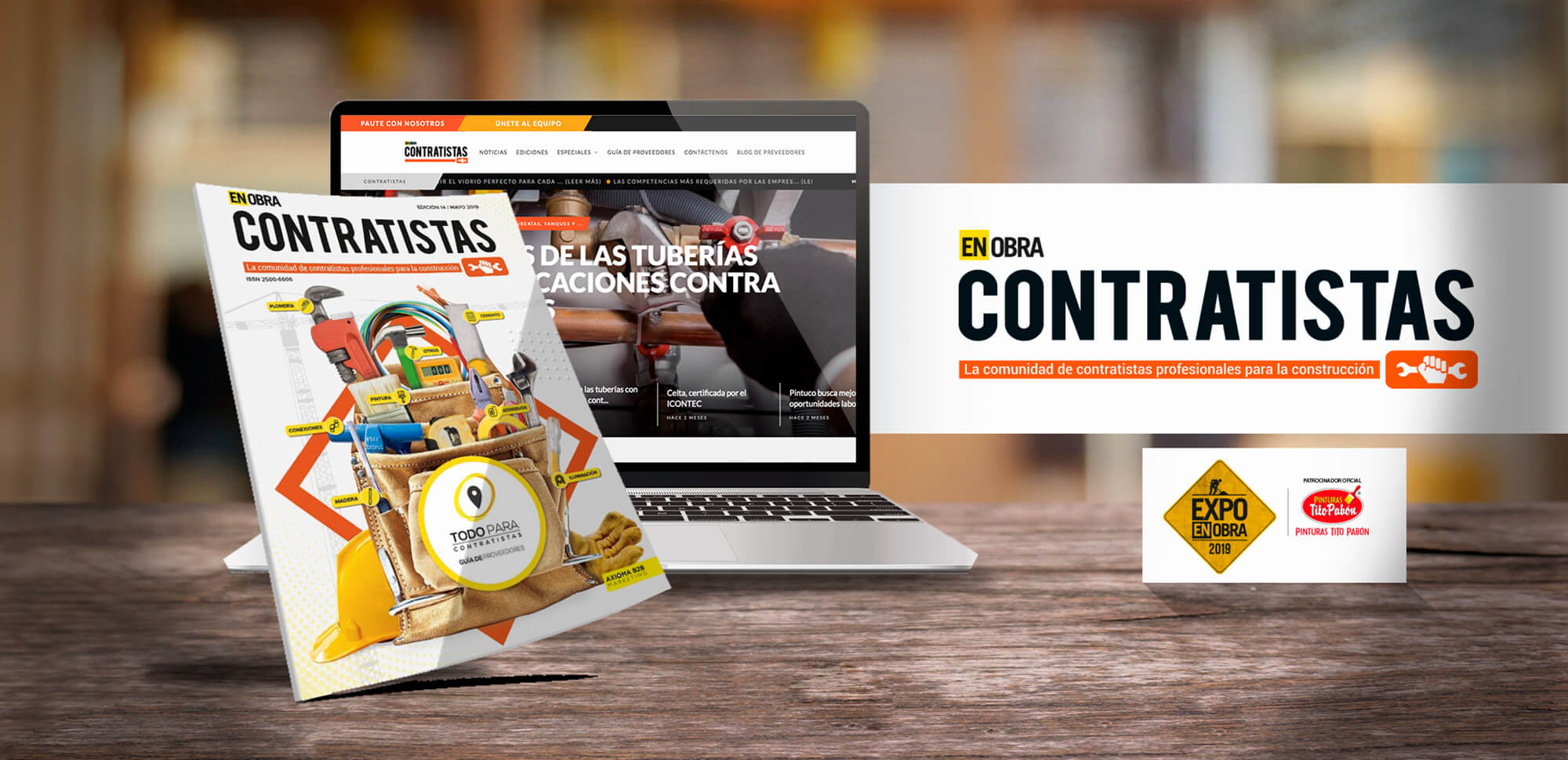 Slider Contratistas industria de Axioma B2B Marketing